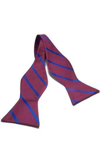 Splice Cufflinks Manual Series Blue Striped Violet Purple Self-tied Man Made Silk Bow Tie SP744AC22KZPSG_1