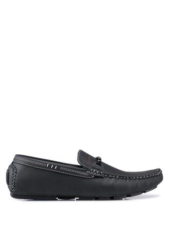 Rocklander black Contrast Seam Loafers 0C245SH49AF3FAGS_1
