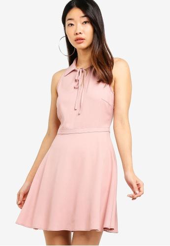 Something Borrowed 橘色 Relaxed Mini Collared Dress 5AA3BAA985EF81GS_1