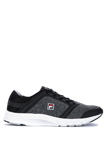 Fila black and grey F Server Running Shoes FBA1DSHF5E2CF0GS_1