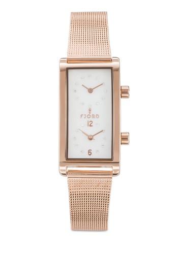 Emma 雙時區方形錶, 錶類esprit手錶專櫃, 飾品配件