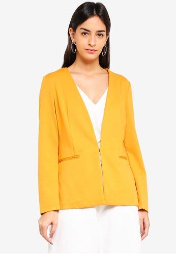 Vero Moda orange Gritt Long Sleeve Blazer C8BE6AA09FBDBAGS_1