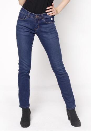 nicole navy Basic Slim Jeans F28BEAA840A980GS_1