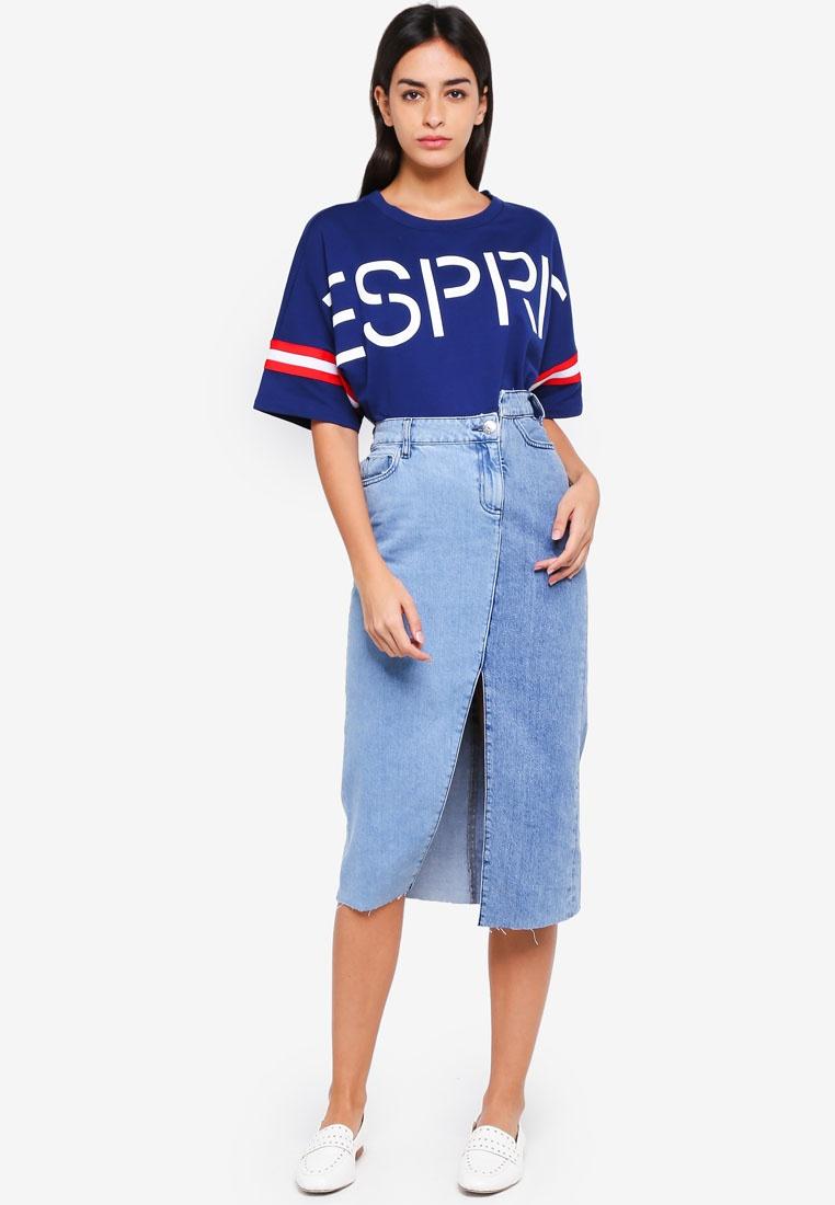 ESPRIT Sleeve ESPRIT Short Sweatshirt Blue Short 0qgWw1