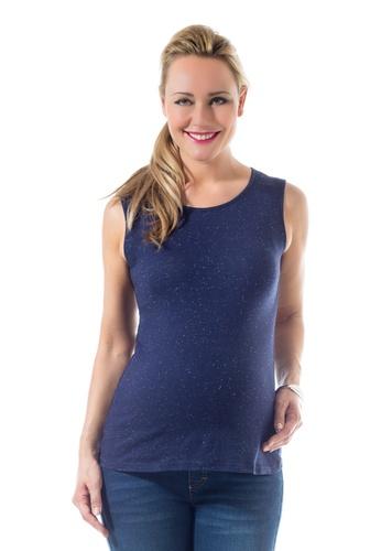 Bove by Spring Maternity navy Knitted Cerelia Sleeveless Tee Navy LTN6802 BO010AA0FTI8SG_1
