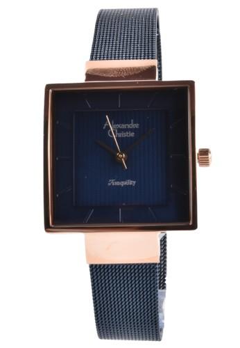 Alexandre Christie navy Alexandre Christie - Jam Tangan Wanita - Rosegold - Blue Stainless Steel - 2510LHBURBU 170C0ACBD72894GS_1