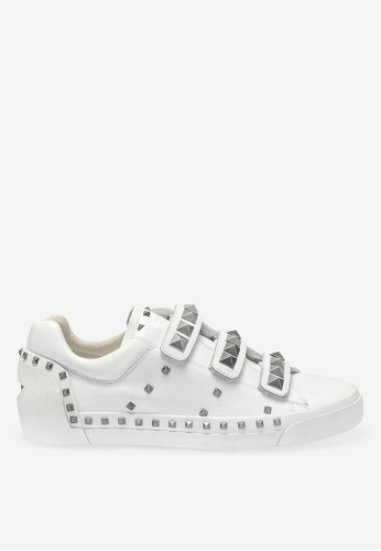 ASH white Neopunk - White Rivets embroidery Low-Top Sneakers 5059ESHED19BD4GS_1