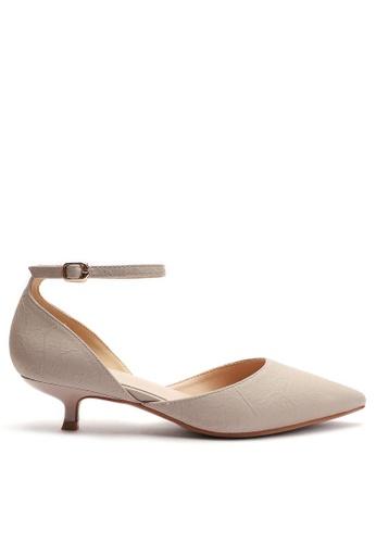 Twenty Eight Shoes 米褐色 尖頭中踭鞋395-10 474D7SH5F5AEC2GS_1