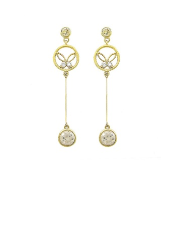 Glamorousky yellow Graceful Butterfly Earrings with Silver and Yellow Austrian Element Crystals 5FDABAC48B9E6BGS_1
