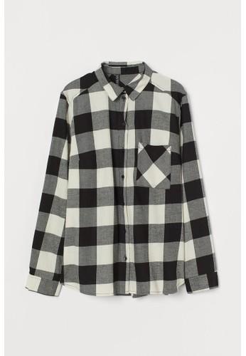 H&M black Cotton shirt E6C4AAA3D6996EGS_1