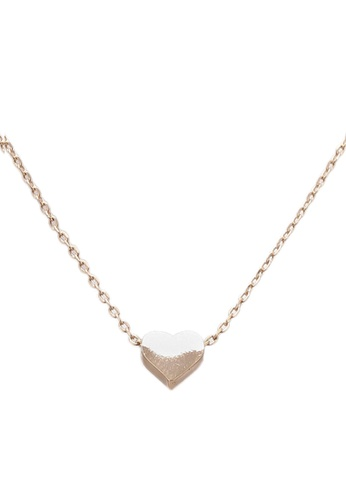 Orelia London gold Thread Thru Heart Necklace OR747AC0SC2OMY_1