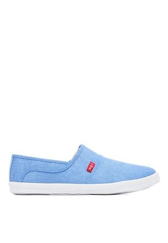Life8 藍色 Casual 水洗布 軟木棉花糖系列 休閒女鞋-09679-藍色 LI216SH098YWTW_1