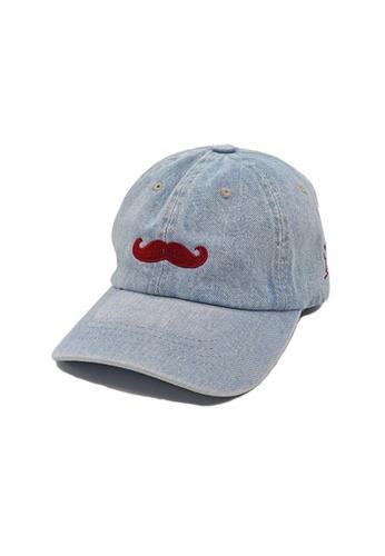 Private Stitch blue Private Stitch Strapback Dad Cap With Embroidery Moustache 5909EAC8743458GS_1