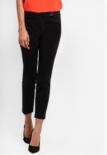Dorothy Perkins black Black Crop Cotton Sateen Trousers DO816AA86UJPMY_1