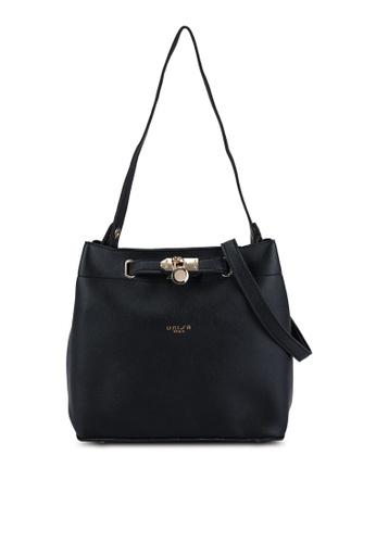 Unisa black Colour Block Faux Leather Top Handle Bag 8B0FFAC8584B21GS_1
