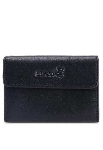 Playboy black Rfid Blocking Card Holder F4A73AC1688A79GS_1