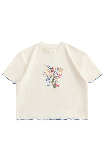 Twenty Eight Shoes Slim Embroidered Short Sleeve T-shirt HH0045 A2852AA27F4315GS_1