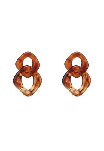 niko and ... brown Chain Link Earrings 3B646ACFC320EAGS_1