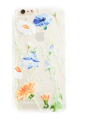 Fancy Cellphone Cases multi Flowers Soft Transparent Case for iPhone 6plus/ 6splus                     FA644AC59IOAPH_1