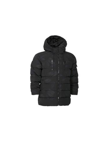 Universal Traveller black Universal Traveller Printed Padded Jacket - PJ 9032 B227FAAA1E3DEBGS_1