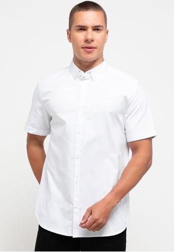 Tripl3 Jeans white Kemeja Lengan Pendek Slim Fit 38C34AA9F796FBGS_1