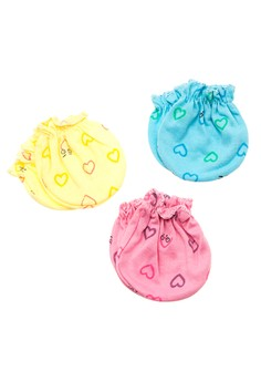 Hearts Colored Mittens Set of 6