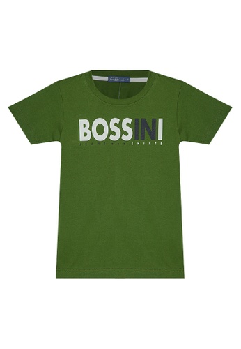 BOSSINI KIDS green Boys Round Neck T-Shirt With Embosed Print 8654BKA993F0E3GS_1