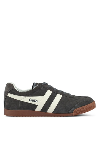 Gola grey and beige Harrier Sneakers 61C6ESH51E5C19GS_1