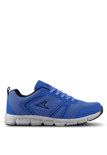 Power grey and navy Power Running Shoes EE016SHC9C03F2GS_1
