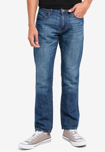ESPRIT 藍色 直筒牛仔褲 83231AAB4B91EEGS_1
