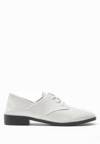PAZZION grey Open Heeled Oxfords E0F04SHFCA7A75GS_1