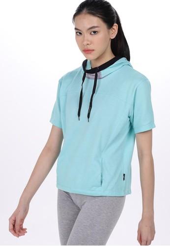 Lee Vierra blue Vana Hoodie Sports Hijab D1719AA95026C0GS_1