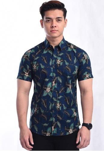 UA BOUTIQUE blue Shirt Batik RBS17-041 (Blue) BAC46AAC50E024GS_1