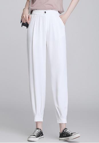 Twenty Eight Shoes white VANSA Cold Silk Casual Pants  VCW-P831 743E9AAA3108CCGS_1