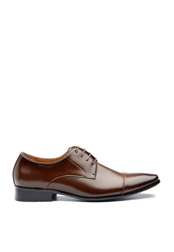 Kings Collection brown Cornwallis Leather Shoes 12574SHC0B8B4CGS_1