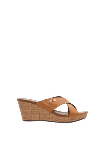 SEMBONIA brown Women Synthetic Leather Wedges 0166FSH2A6D8B6GS_1