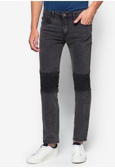 Mens Super Skinny Biker Jeans