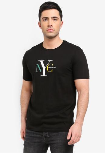 Cotton On 黑色 短袖印花T恤 09DCFAAA8711ACGS_1