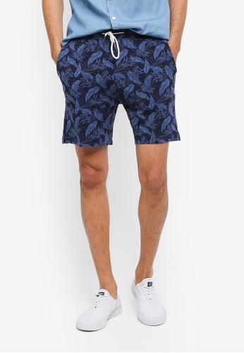JAXON navy Pique Jersey Shorts 773C0AABF7E496GS_1