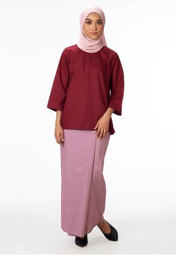House Of Olsha red Signature Kantan Kurung Kedah - Red FBA9AAA4F39F58GS_1