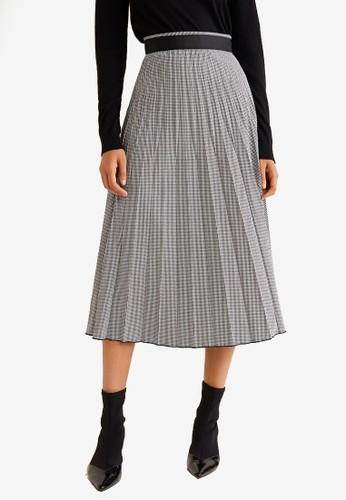 Mango black Printed Pleated Skirt 788B7AAAAD3558GS_1