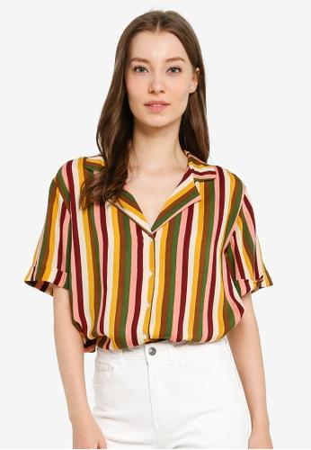 Compania Fantastica multi Striped Shirt 4305BAAA7C1B7BGS_1