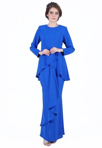 Kurung Jasmine from LARA NOUR in Blue