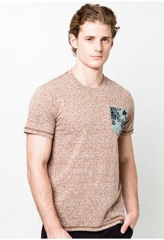 Round Neck T-shirt with Pocket