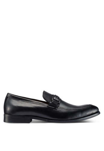 Carlton London black Slip On Loafers 009AESH44B708EGS_1