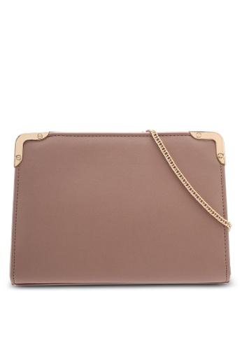 Dorothy Perkins beige Mink Metal Corner Boxy Clutch 39276AC95FE805GS_1