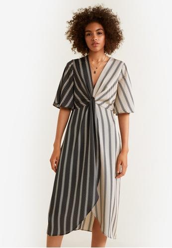 3edb73fe96c9 Shop MANGO Flowy Knotted Dress Online on ZALORA Philippines