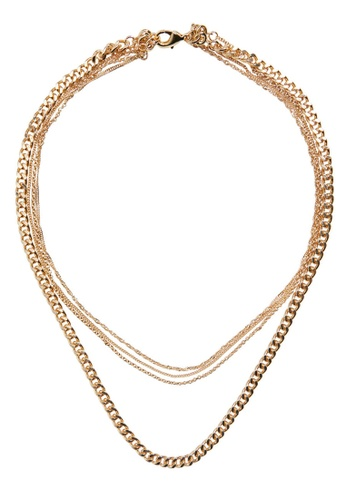 Mango gold Mixed Chain Necklace 37DBDACEE28502GS_1