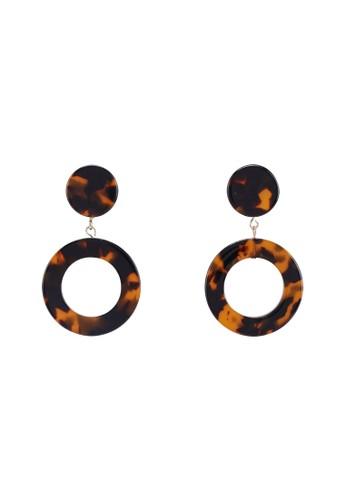 MANGO brown Tortoiseshell Earrings 3E3C7ACCAF7A47GS_1
