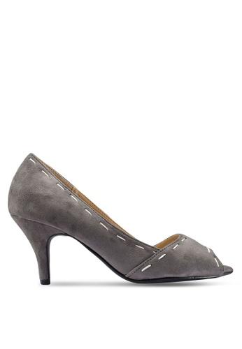 Berrybenka 灰色 質感高跟鞋 127EESH81537B7GS_1